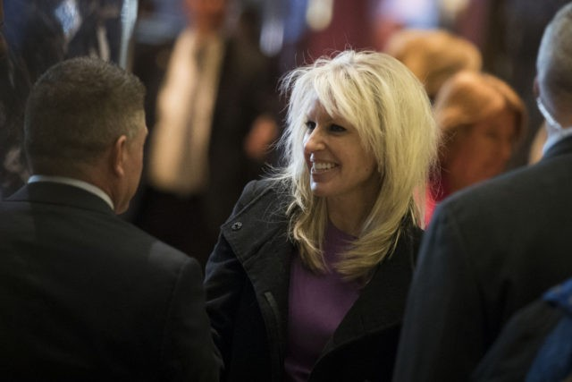 NEW YORK, NY - DECEMBER 15: Monica Crowley, recently chosen as a deputy national security advisor in President-elect Donald Trump's administration, departs Trump Tower, December 15, 2016 in New York City. President-elect Donald Trump and his transition team are in the process of filling cabinet and other high level positions …
