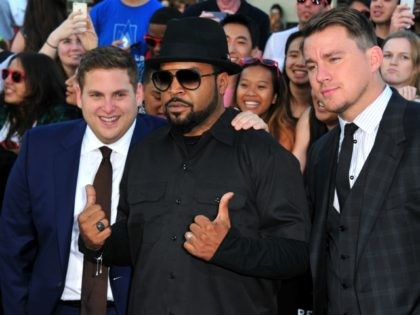 """WESTWOOD, CA - JUNE 10: Actors Jonah Hill, Ice Cube and Channing Tatum attend the Premiere Of Columbia Pictures' """"22 Jump Street"""" at Regency Village Theatre on June 10, 2014 in Westwood, California. (Photo by Frazer Harrison/Getty Images)"""