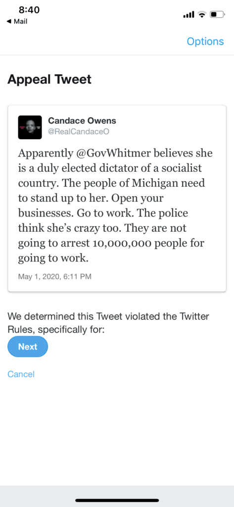 Candace Owens Suspension