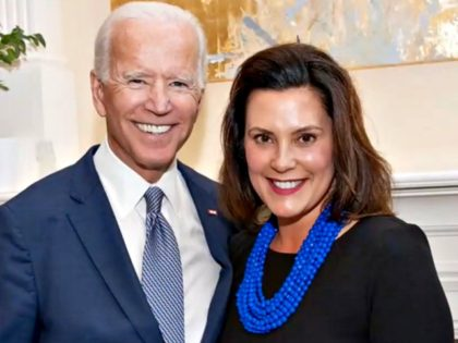 Joe Biden and Gretchen Whitmer