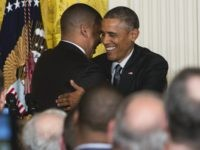 Kevin Johnson and Barack Obama (Kristoffer Tripplaar - Pool/Getty)