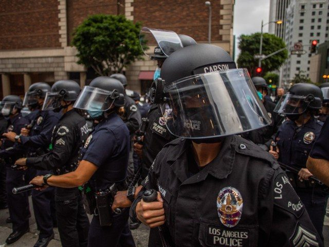 Los Angeles Police Department LAPD in riot gear