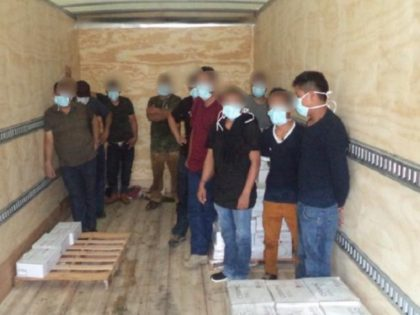 Laredo North Station Border Patrol agents assigned to the Interstate 35 immigration checkpoint find a group of migrants locked in a box truck over the Memorial Day weekend. (Photo: U.S. Border Patrol/Laredo Sector)