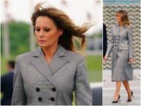 First Lady Melania Trump was sharp and sleek as she …
