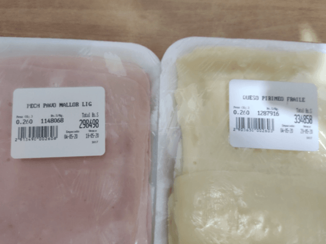The price of a packet of turkey breast and white cheese in Venezuela, May 2020. (Photo: Christian K. Caruzo)