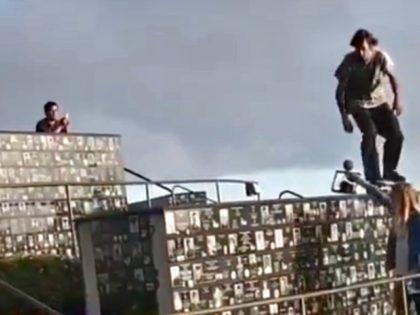 VIDEO: Skateboarder Rides on Top of San Diego Veterans Memorial