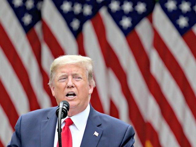 WASHINGTON, DC - MAY 29: U.S. President Donald Trump speaks about U.S. relations with China, at the White House May 29, 2020 in Washington, DC. President Trump did not take questions regarding the current situation in Minneapolis following the death of George Floyd and todays arrest of Derek Chauvin the …
