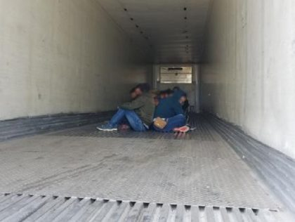 Laredo Sector Border Patrol agents rescue 25 migrants locked inside a tractor-trailer at the Interstate 35 immigration checkpoint on May 9, 2020. (Photo: Laredo Sector/U.S. Border Patrol)