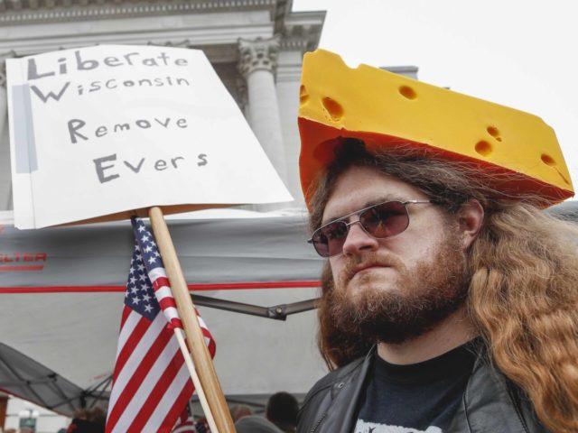 Wisconsin protest (Kamil Krzaczynski / AFP / Getty)