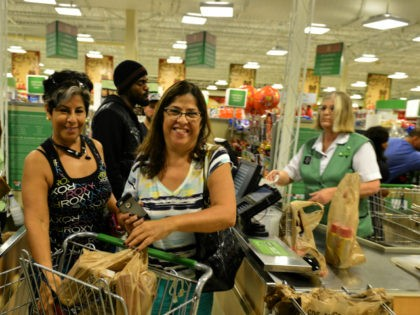 Consumer shopping at Publix supermarket in Miramar, Florida in preparation for the landfall of Hurricane Matthew on October 6, 2016 in Miramar, Florida. The hurricane is expected to make landfall sometime this evening or early in the morning as a possible category 4 storm.Credit: MPI10 / MediaPunch/IPX via AP