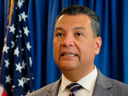 California Secretary of State Alex Padilla talks about voting rights and announces new voter registration numbers Friday, Nov. 2, 2018, in San Francisco. (AP Photo/Eric Risberg)