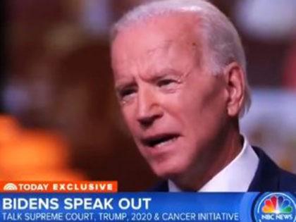 Joe Biden discussing Christine Blasey Ford