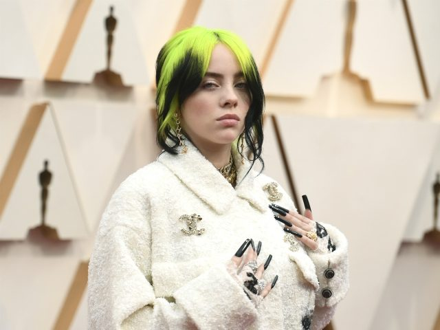 Billie Eilish arrives at the Oscars on Sunday, Feb. 9, 2020, at the Dolby Theatre in Los Angeles. (Photo by Richard Shotwell/Invision/AP)