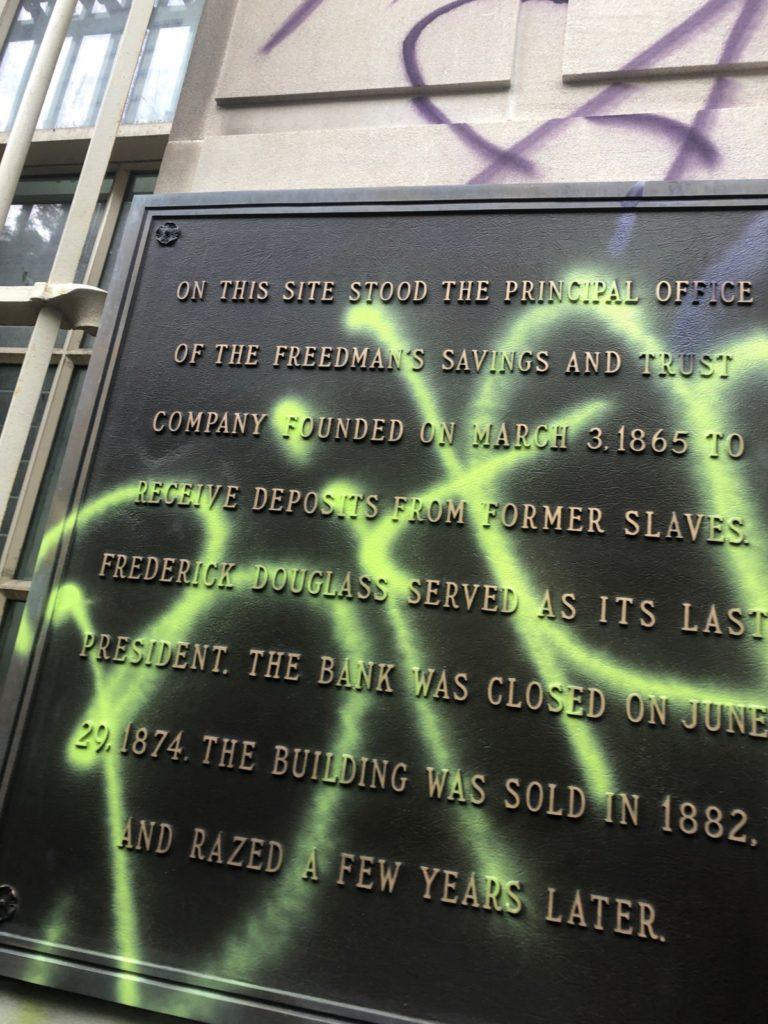 Watch: George Floyd Protesters Swarm, Climb, and Graffiti U.S. Treasury Building