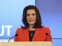 "In a photo provided by the governor's office, Michigan Gov. Gretchen Whitmer speaks in Lansing, Mich., Monday, May 4, 2020. Whitmer's administration says hospitals and physicians have ""broad discretion"" to decide whether to delay nonessential procedures during the pandemic. In-person contact should be limited as much as possible. But if …"