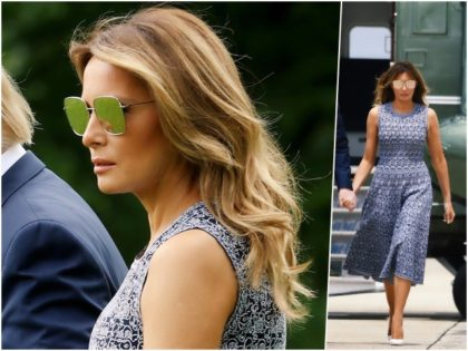 First Lady Melania Trump is ready for a cool summer …