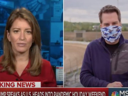 MSNBC Reporter: Nobody's Wearing Masks — Passerby: Including the Cameraman