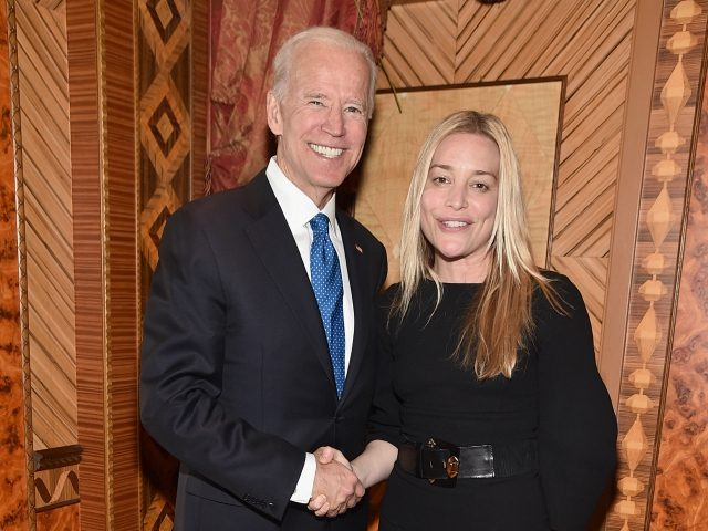 NEW YORK, NY - APRIL 18: Former U.S. Vice President Joe Biden and Actor Piper Perabo attend the Biden Courage Awards Presented by It's On Us at the Russian Tea Room on April 18, 2018 in New York City. (Photo by Theo Wargo/Getty Images for It's On Us)