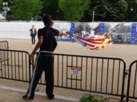 Floyd Protesters Burn American Flags Outside White House