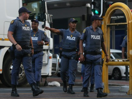 Police patrol the area near parliament in Cape Town, South Africa as South African President, Cyril Ramaphosa presented his State Of The Nation address Thursday, Feb. 7, 2019. Ramaphosa's speech to parliament comes three months before national elections in May that are seen by many as a referendum on his …