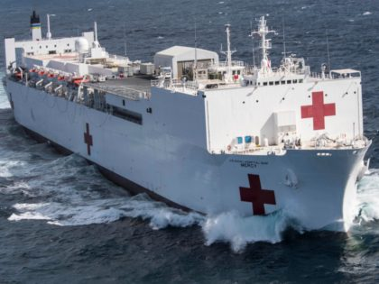 The hospital ship USNS Mercy departs Naval Base San Diego in support of Pacific Partnership 2018, Feb. 23, 2018. Pacific Partnership, now in its 13th iteration, is the largest annual multinational humanitarian assistance and disaster relief preparedness mission conducted in the Indo-Pacific. Navy photo by Petty Officer 2nd Class Kelsey …