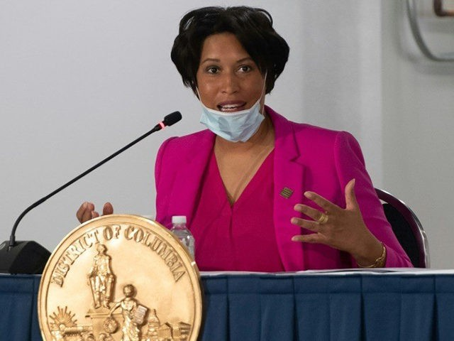 Washington Mayor Muriel Bowser speaks during a press conference on May 11