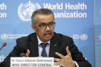 In this Monday, Feb. 24, 2020 file photo, Tedros Adhanom Ghebreyesus, Director General of the World Health Organization (WHO), addresses a press conference about the update on COVID-19 at the World Health Organization headquarters in Geneva, Switzerland. The European Union is calling for an independent evaluation of the World Health …