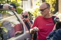 Prime Minister Boris Johnson's senior aide Dominic Cummings leaves his north London home, Monday May 25, 2020. British Prime Minister Boris Johnson is standing by his top aide, Cummings, who is accused of breaking lockdown rules by traveling 250 miles (400 km) to his parents' house while coming down with …
