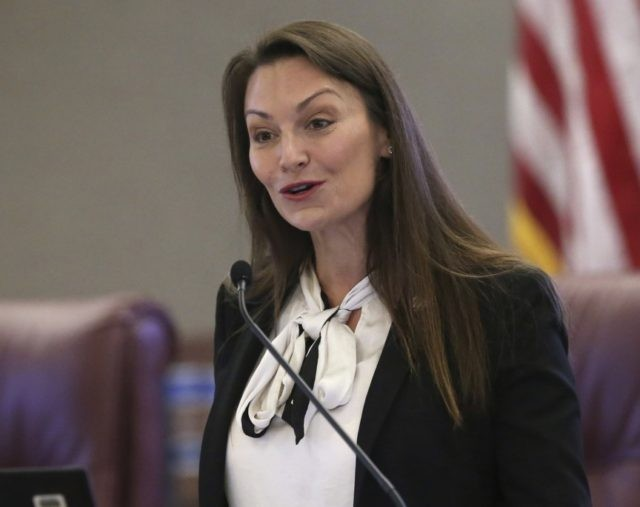 "In this Oct. 29, 2019 photo, Agriculture commissioner Nikki Fried speaks at a pre-legislative news conference in Tallahassee, Fla. Fried, the only Democrat holding statewide office in Florida, upbraided Republican Gov. Ron DeSantis on Thursday, May 28, 2020, for keeping the state Cabinet ""in the dark"" by failing to convene …"