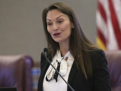 """In this Oct. 29, 2019 photo, Agriculture commissioner Nikki Fried speaks at a pre-legislative news conference in Tallahassee, Fla. Fried, the only Democrat holding statewide office in Florida, upbraided Republican Gov. Ron DeSantis on Thursday, May 28, 2020, for keeping the state Cabinet """"in the dark"""" by failing to convene …"""