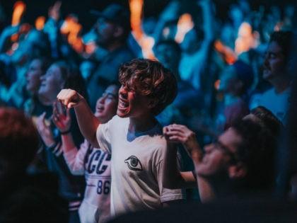 Youth worship at North Coast Church in Vista, California.