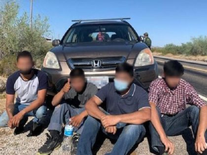 Yuma Sector Border Patrol agents arrest four illegal aliens in Southwest Arizona. (Photo: U.S. Border Patrol/Yuma Sector)