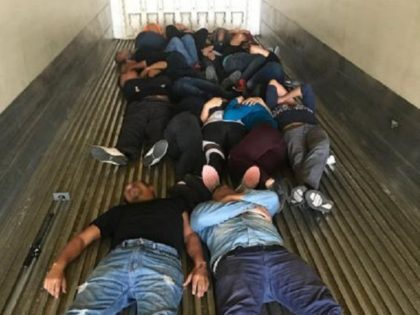 Laredo North Station Border Patrol agents find 17 illegal aliens locked in a trailer at the Interstate 35 immigration checkpoint. (Photo: U.S. Border Patrol/Laredo Sector)