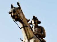 Statue of Founding Father Caesar Rodney in Wilmington, Delaware.
