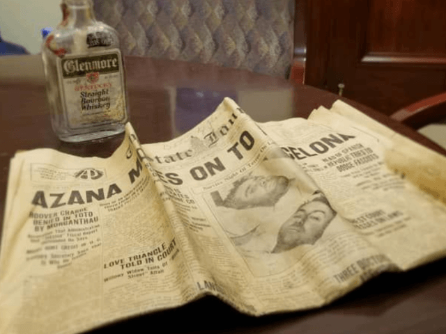 The workers were taking the statue down from the Kentucky state capitol in Frankfort on Saturday when they discovered two unexpected artifacts inside its base— a bottle of Glenmore Kentucky Straight Bourbon Whiskey and a newspaper from October 30, 1936, the day the statue was put in place, the Associated …
