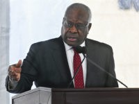 Supreme Court Justice Clarence Thomas delivers a keynote speech during a dedication of Georgia new Nathan Deal Judicial Center Tuesday, Feb. 11, 2020, in Atlanta. The center is named for a former governor and is the first state building in the history of Georgia that is devoted entirely to the …