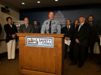 The president of Minneapolis Police Federation, Lt. Bob Kroll, speaks at a news conference on Monday, Feb. 17, 2020, at the state Capitol in St. Paul, Minn. The union leader appeared in support of a GOP-backed slate of bills that are aimed at reducing violent crime in Minneapolis and St. …