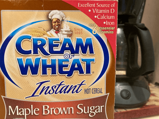 "A box of Cream of Wheat is displayed on a counter, Thursday, June 18, 2020 in White Plains, N.Y. Cream of Wheat and Mrs. Butterworth are the latest brands reckoning with racially charged logos. B&G Foods Inc., which makes Cream of Wheat hot cereal, said it is initiating ""an immediate …"