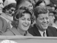 President John Kennedy and his sister, Mrs. Jean Smith, are shown in this candid photo watching the opening base ball game of the American League on April 10, 1961 at Griffith Stadium in Washington. (AP Photo)