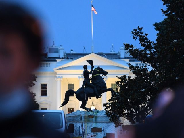 Andrew Jackson statue removal attempt (Eric Baradat / AFP / Getty)