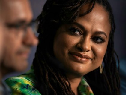 US director and screenwriter and member of the Feature Film Jury Ava DuVernay attends on May 8, 2018 a press conference ahead of the opening of the 71st edition of the Cannes Film Festival in Cannes, southern France. (Photo by Laurent EMMANUEL / AFP) (Photo credit should read LAURENT EMMANUEL/AFP …