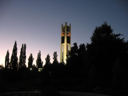 BYU Campus at dusk