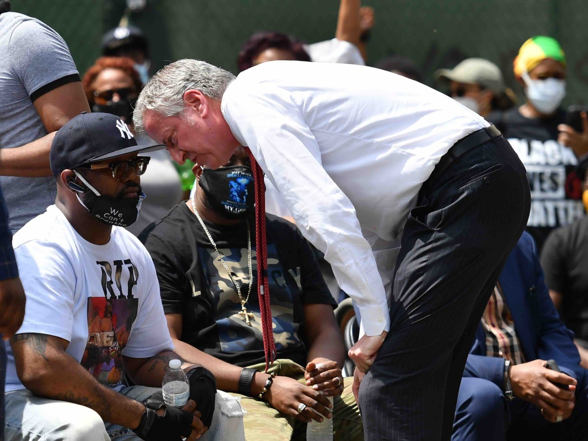 Bill de Blasio Black Lives Matter (Angela Weiss / AFP / Getty)