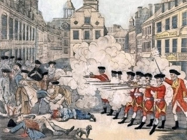Boston Massacre (Paul Revere / Wikimedia Commons)