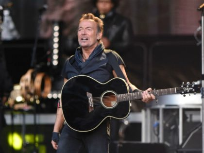 "US singer Bruce Springsteen performs on stage during ""The river Tour 2016"" in the northern Spanish Basque city of San Sebastian on May 17, 2016. / AFP / ANDER GILLENEA (Photo credit should read ANDER GILLENEA/AFP via Getty Images)"