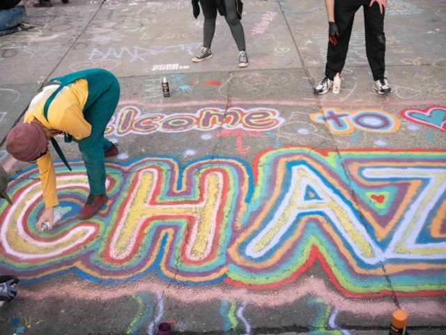 CHAZ graffiti (David Ryder / Getty)