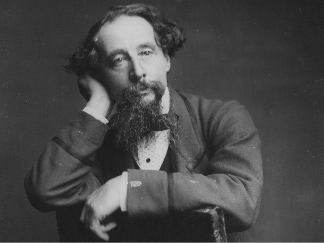 English writer Charles Dickens (1812 - 1870), from the original wet-plate negative by Herbert Watkins. (Photo by Rischgitz/Getty Images)