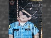 Mural of Cop Hanging from Noose in Houston