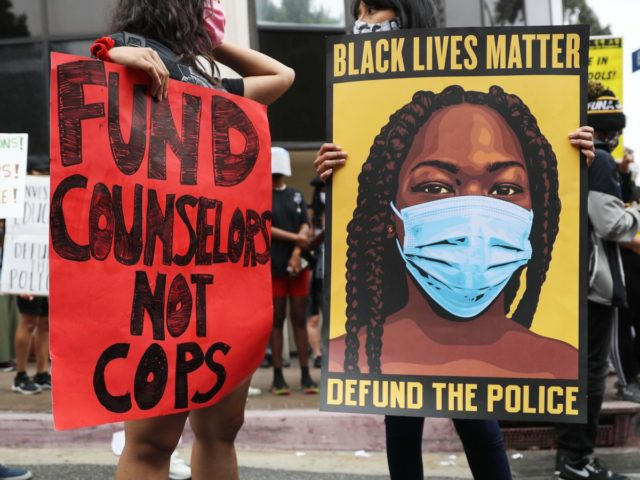 Defund the Police L.A. schools (Mario Tama / Getty)
