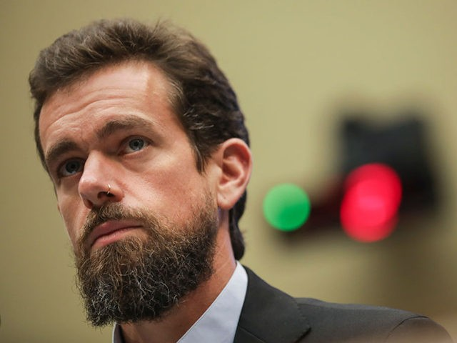 WASHINGTON, DC - SEPTEMBER 5: Twitter chief executive officer Jack Dorsey testifies during a House Committee on Energy and Commerce hearing about Twitter's transparency and accountability, on Capitol Hill, September 5, 2018 in Washington, DC. Earlier in the day, Dorsey faced questions from the Senate Intelligence Committee about how foreign …